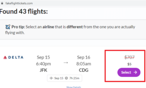 Is it safe to buy fake flight tickets?